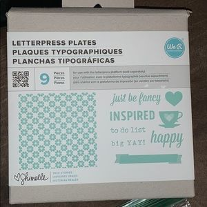 Letter Press Plates for Embossing & Printing